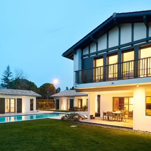 Création d'une villa avec piscine à Arcangues au Pays Basque